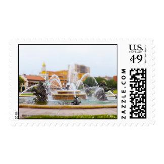 JC Nichols Fountain Country Club Plaza KC Postage Stamp