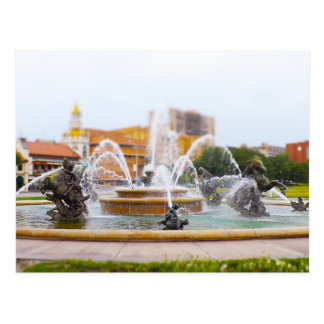 JC Nichols Fountain Country Club Plaza KC Postcard