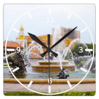 JC Nichols Fountain Country Club Plaza KC Square Wall Clock