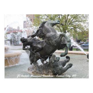 JC Nichols Memorial Fountain # 4 Postcard
