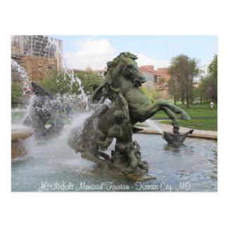 JC Nichols Memorial Fountain # 5 Postcard