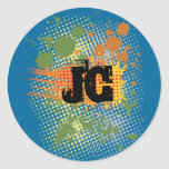 JC por las tiendas cristianas Etiquetas Redondas
