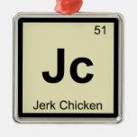 Jc - símbolo de la tabla periódica de la química ornamento para reyes magos