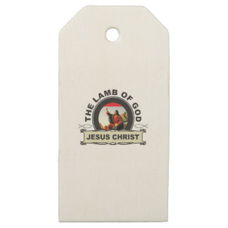 jc the lamb of god wooden gift tags