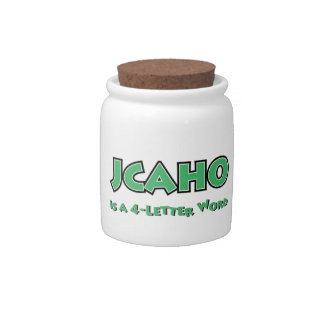 JCAHO is a 4-Letter Word Candy Jar
