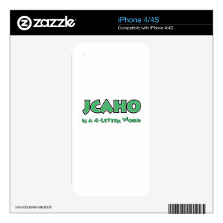 JCAHO is a 4-Letter Word iPhone 4 Decals