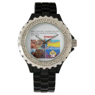 jcole said Watch, Black Enamel Wrist Watch