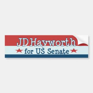 JD Hayworth 2010 para el senado Arizona de los E.E Pegatina De Parachoque