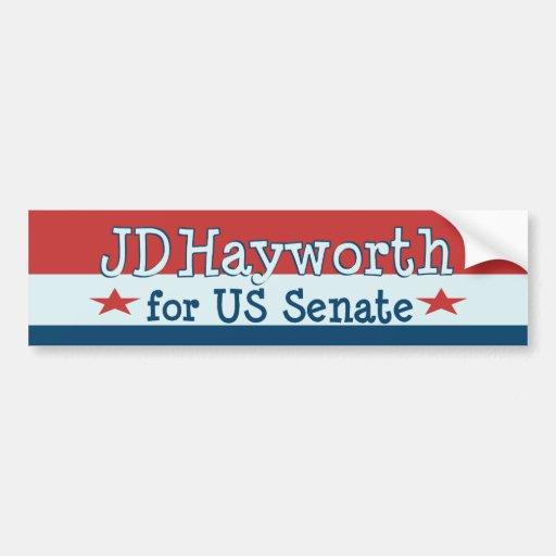 JD Hayworth 2010 para el senado Arizona de los E.E Pegatina Para Auto