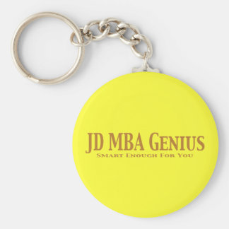JD MBA Genius Gifts Keychain