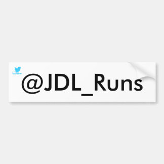 JDL_Runs bumper sticker