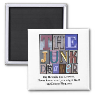 JDLogo, Dig through The Drawer. Ne... - Customized 2 Inch Square Magnet