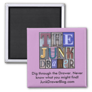 JDLogo, Dig through the Drawer. Never know what... 2 Inch Square Magnet