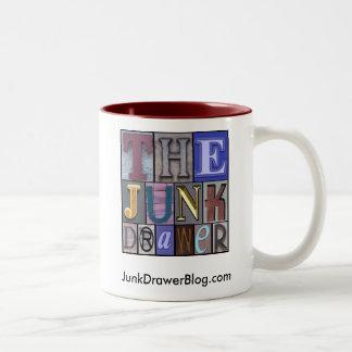 JDLogo, JunkDrawerBlog.com Two-Tone Coffee Mug