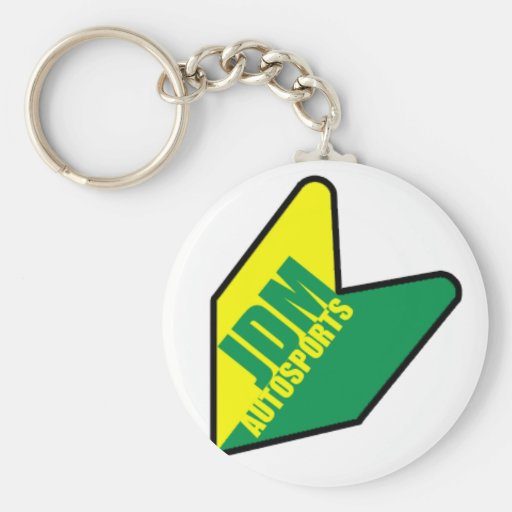 jdm autosports basic round button keychain