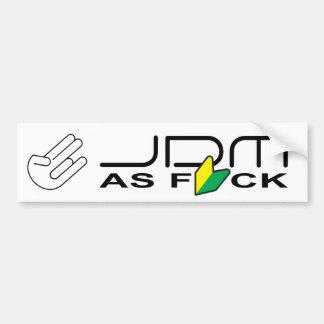 """JDM como FCK """"nuevo conductor """" Pegatina De Parachoque"""