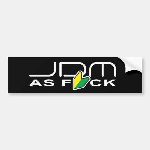 """JDM como FCK """"nuevo conductor """" Pegatina Para Auto"""