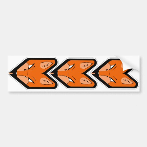 JDM Fox Badge Bumper Sticker