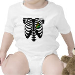 JDM heart and ribs Baby Bodysuits