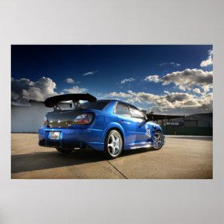 JDM Subaru WRX - poster Póster