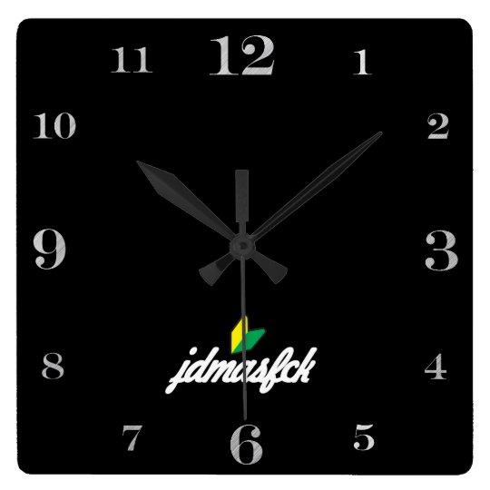 jdmasfck square wall clock