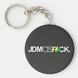 jdmasfck with faux carbon fiber key chain