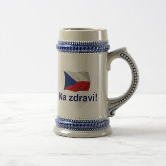 ¡Jdravi checo del Na! Jarra De Cerveza