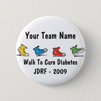 JDRF Walk team button 2009