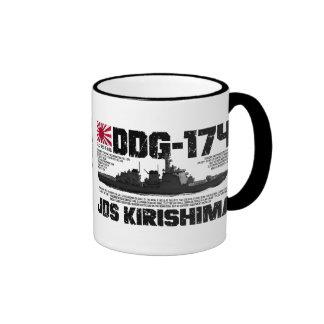 JDS Kirishima (DDG-174) Ringer Coffee Mug