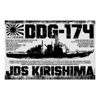 JDS Kirishima (DDG-174) Poster