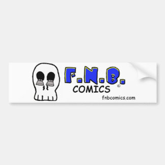 JD's skull with FNBcomics Logo Bumper Stickers
