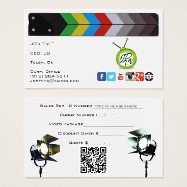 Beach Themed JD's T.V. Official Business Cards
