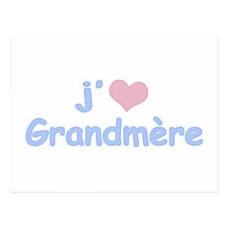 "Je ""coeur"" Grandmère Postcard"