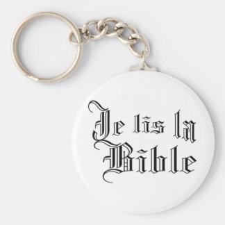 Je lis la Bible Keychain