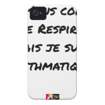 I LIE AS I BREATHE, BUT I AM ASTHMATIC iPhone 4 CASE