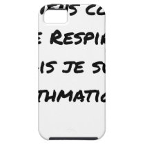 I LIE AS I BREATHE, BUT I AM ASTHMATIC iPhone SE/5/5s CASE