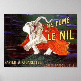 Je Ne Fume Que Le Nil Elephant Ad Print