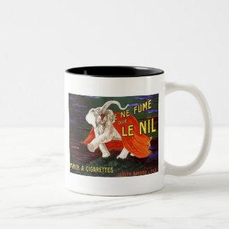 Je Ne Fume Que Le Nil Elephant Ad Two-Tone Coffee Mug