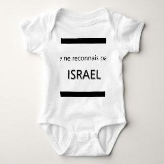 je ne reconnais pas israel baby bodysuit