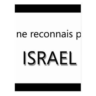 je ne reconnais pas israel postcard