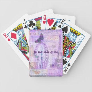 Je ne sais quoi  French Phrase - Paris Theme art Bicycle Playing Cards