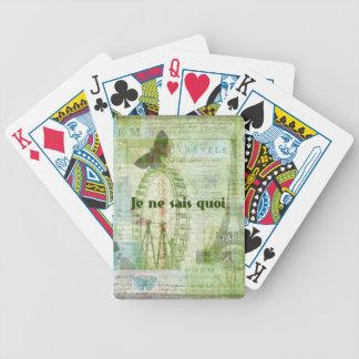 Je ne sais quoi French Phrase  Paris Theme decor Bicycle Playing Cards
