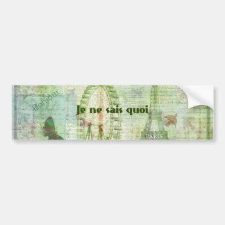 Je ne sais quoi French Phrase  Paris Theme decor Bumper Sticker