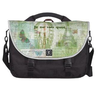 Je ne sais quoi French Phrase  Paris Theme decor Laptop Messenger Bag