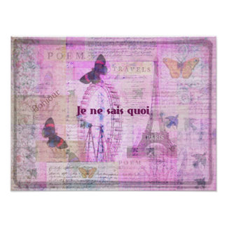 Je ne sais quoi  French Phrase - Paris Theme print