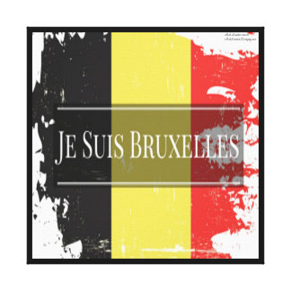 Je Suis Bruxelles We Are Brussels Canvas Print