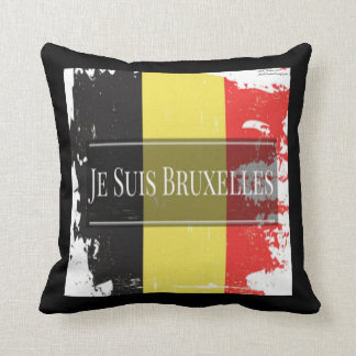 Je Suis Bruxelles We Are Brussels Throw Pillow