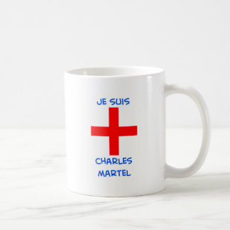 je suis charles martel crusader cross classic white coffee mug