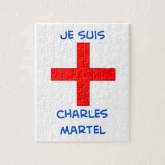 je suis charles martel crusader cross jigsaw puzzle