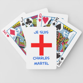 je suis charles martel crusader cross bicycle playing cards